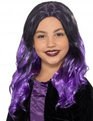 Violett-schwarze Perücke für Kinder