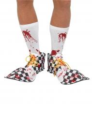 Blutige Horror-Clownschuhe Halloween Kostümzubehör bunt