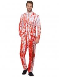 Blutiger Anzug für Herren Halloween-Verkleidung weiss-rot