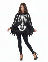 Skelett-Poncho Kostümzubehör Halloween schwarz-weiss