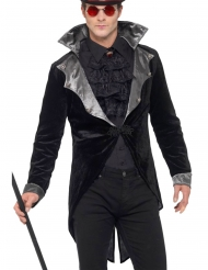 Vampir-Frack für Herren Halloween schwarz-grau