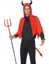 Teuflisches Kostüm-Set für Erwachsene rot-schwarz