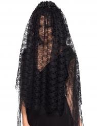 Brautschleier Gothic Kostüm-Accessoire für Halloween schwarz