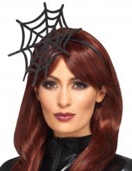 Spinnennetz-Kopfschmuck Halloween-Accessoire schwarz