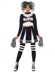 Gothic Cheerleader Kostüm für Damen Halloween