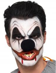 Killerclown Schmink-Set für Halloween 6-teilig schwarz-weiss