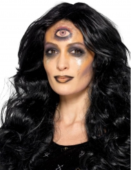 Wahrsagerin Schmink-Set Halloween Make-up schwarz-bunt