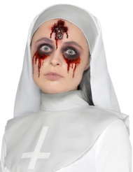 Horror-Wunde Halloween-Make-up Nonne rot
