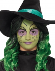Hexen-Schminkset für Kinder Halloween-Make-up bunt