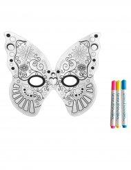 Bemalbare Schmetterling-Maske für Kinder bunt