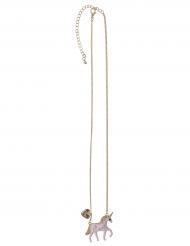 Einhorn-Halskette für Mädchen rosa