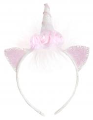 Bezaubernder-Einhornhaarreif für Mädchen weiss-rosa