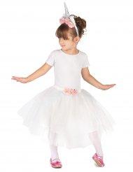 Einhorn-KostümSet für Kinder weiss-rosa