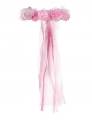 Prinzessinnen Blumenkranz mit Schleier für Kinder