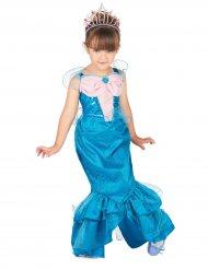 Meerjungfrauen-Kinderkostüm für Mädchen blau-rosa