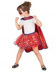 Superhelden Kostüm für Mädchen rot-blau