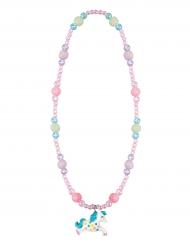 Zauberhafte Einhorn-Halskette für Kinder Märchen rosa-blau