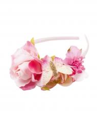 Blumenkranz Haarreif für Mädchen rosa