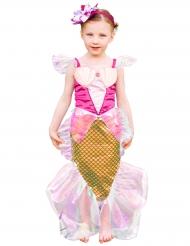 Bezaubernde Meerjungfrau Prinzessin für Mädchen rosa-gold