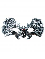 Fledermaus Maske mit Pailletten für Kinder