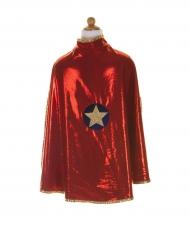 Superhelden-Umhang für Mädchen Kriegerin rot-blau-gold