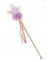 Einhorn-Zauberstab Glitzer mit Stern bunt
