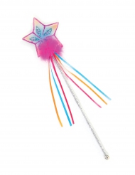 Märchenhafter Zauberstab für Kinder Stern bunt