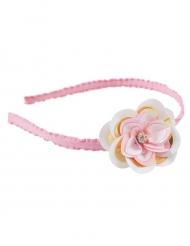 Blumen-Haarreif für Mädchen rosa gold