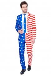 Mr. USA Suitmeister™-Anzug für Herren blau-weiss-rot