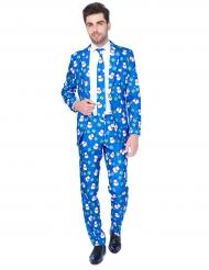 Mr.Snowman Opposuits™ für Herren Weihnachten blau-bunt