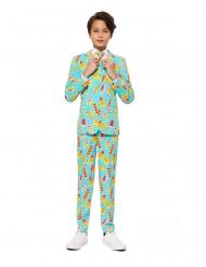 Mr. Iceman™-Opposuits Anzug für Kinder türkis-gelb