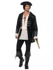 Piraten-Mantel für Herren Kostümzubehör schwarz