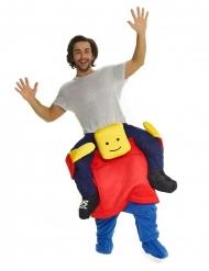 Huckepack-Kostüm Morphsuit™ Spielzeug-Figur gelb-rot-blau