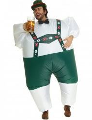 Lustiges Bayer-Kostüm aufblasbar Morphsuit™ grün-weiss-braun