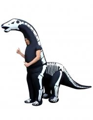 Aufblasbares Skelett Dino-Kostüm für Erwachsene Morphsuits™ Halloween