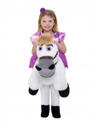 Rapunzel™-Kinderkostüm mit Pferd Karneval Morphsuits™ lila-weiss
