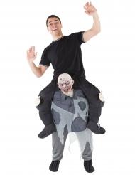 Huckepack Zombie Kostüm für Erwachsene Morphsuits™ grau
