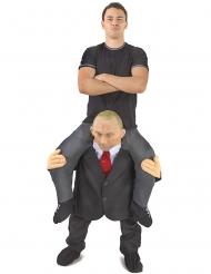 Huckepack-Kostüm russischer Politiker Morphsuits™ grau-weiss-rot