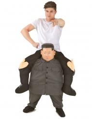 Huckepack-Kostüm Kim Morphsuits™ grau-schwarz