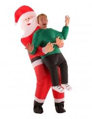 Humorvolles Santa Claus-Kostüm für Weihnachten Morphsuits™ bunt