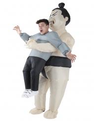 Huckepack-Sumoringer-Kostüm Morphsuits™ bunt