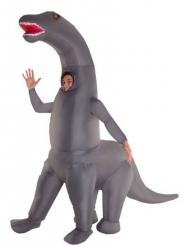 Aufblasbares Dinosaurier-Kostüm Morphsuits™ grau