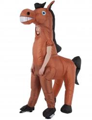 Humorvolles Pferdekostüm für Kinder Morphsuits™-Lizenz braun-schwarz