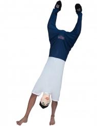 Lustiges Handstand-Kostüm Morphsuits™ Unisex blau-weiss