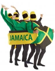 Bobschlitten Jamaika humorvolles Gruppenkostüm grün-gelb-schwarz