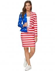 Mrs. USA-Damenkostüm Amerika-Anzug blau-weiss-rot