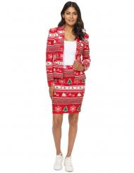 Weihnachtlicher-Damenanzug-Suitmeister™ 2-teilig rot-weiss-grün
