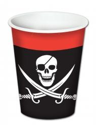 8 Pappbecher Pirat 260 ml