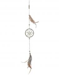 Traumfänger mit Federn beige 35 cm