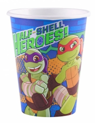 8 Pappbecher Ninja Turtles 266 ml